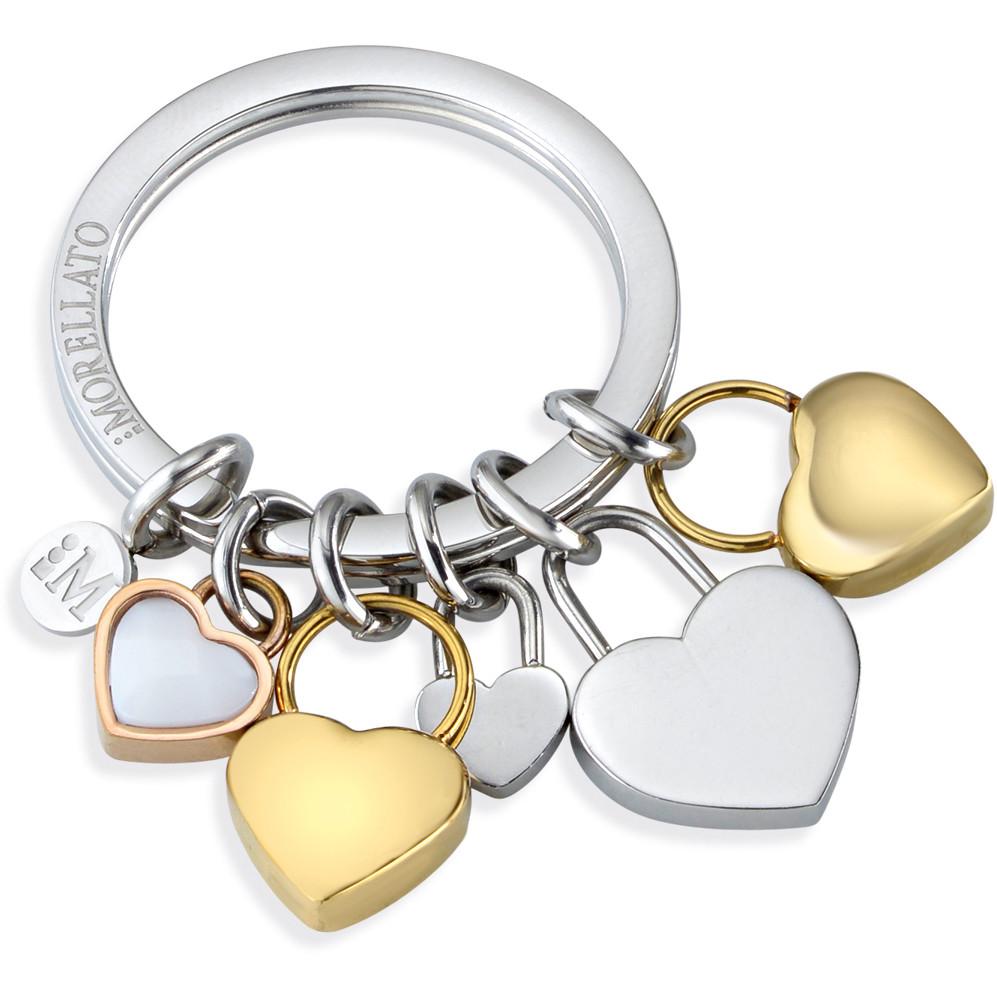 porte-clés femme bijoux Morellato LOVE HEART CHARMS YG WHI STO SD7130