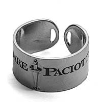 ring man jewellery Cesare Paciotti White Foil JPAN1407B/24