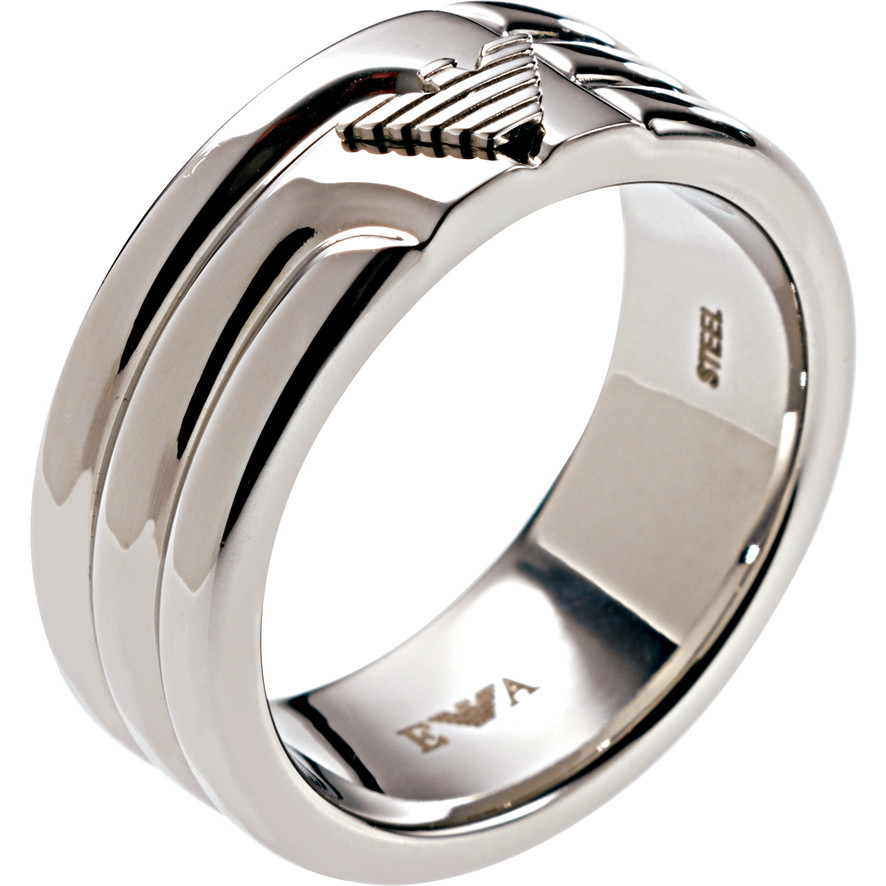 ring man jewellery Emporio Armani EGS1257040512 rings Emporio Armani
