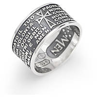 ring unisex jewellery Amen Padre Nostro Italiano PNB925-14