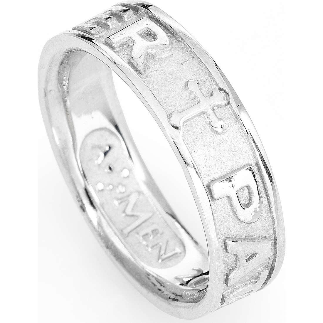 ring unisex jewellery Amen Padre Nostro Latino PATB-12