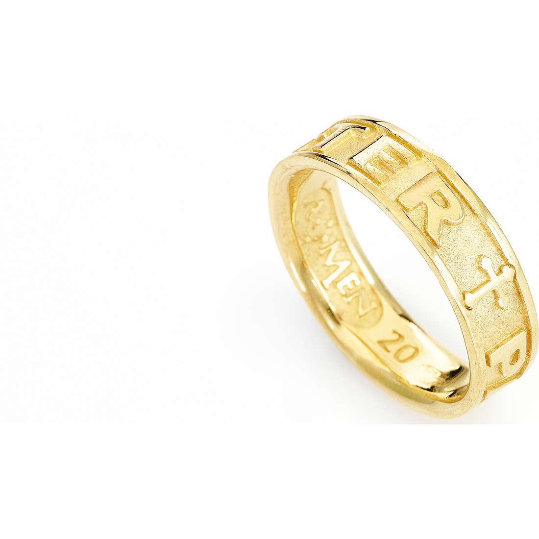 ring unisex jewellery Amen Padre Nostro Latino PATG-14