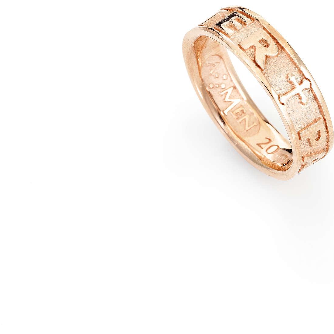 ring unisex jewellery Amen Padre Nostro Latino PATR-12