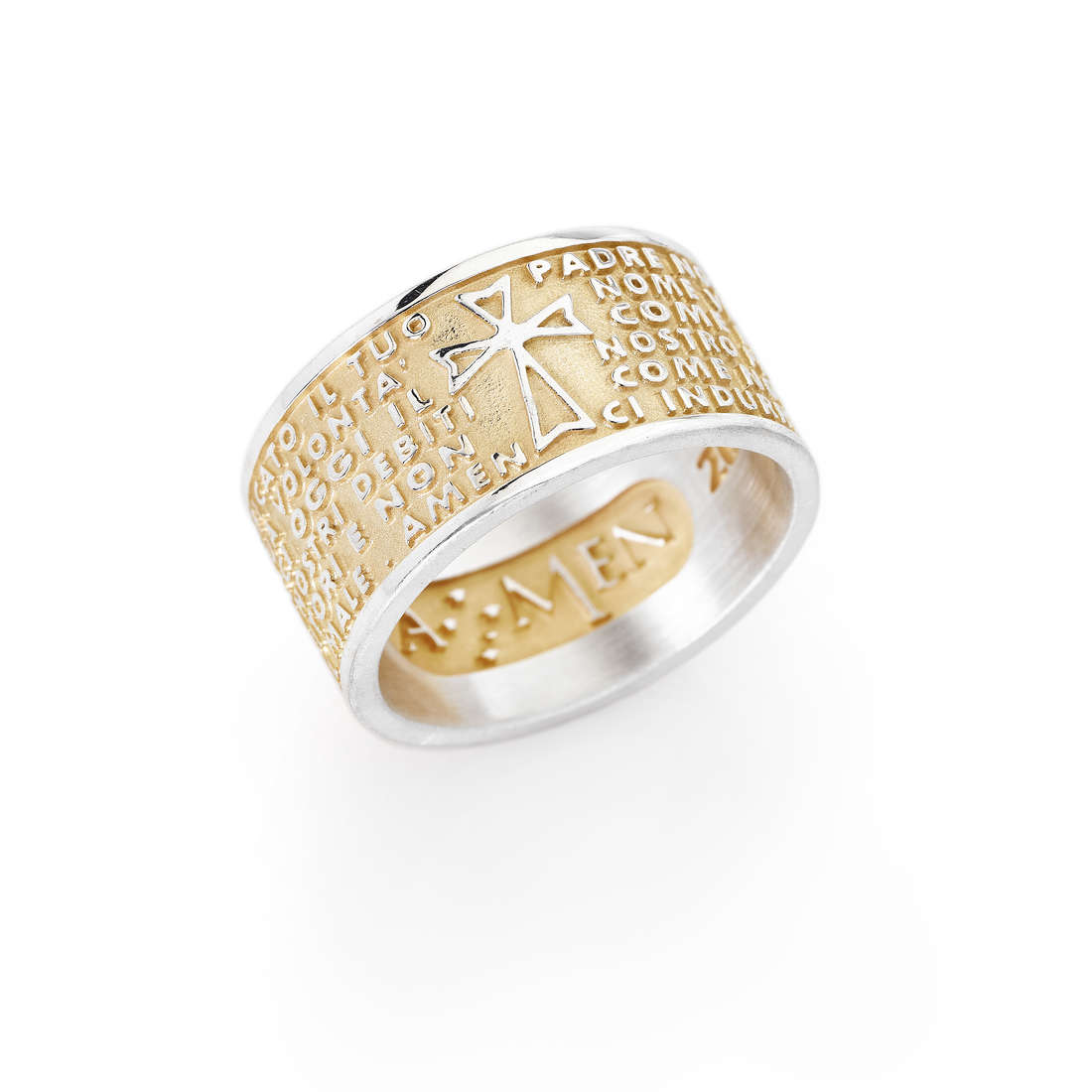 ring unisex jewellery Amen Padre Nostro PNG-12
