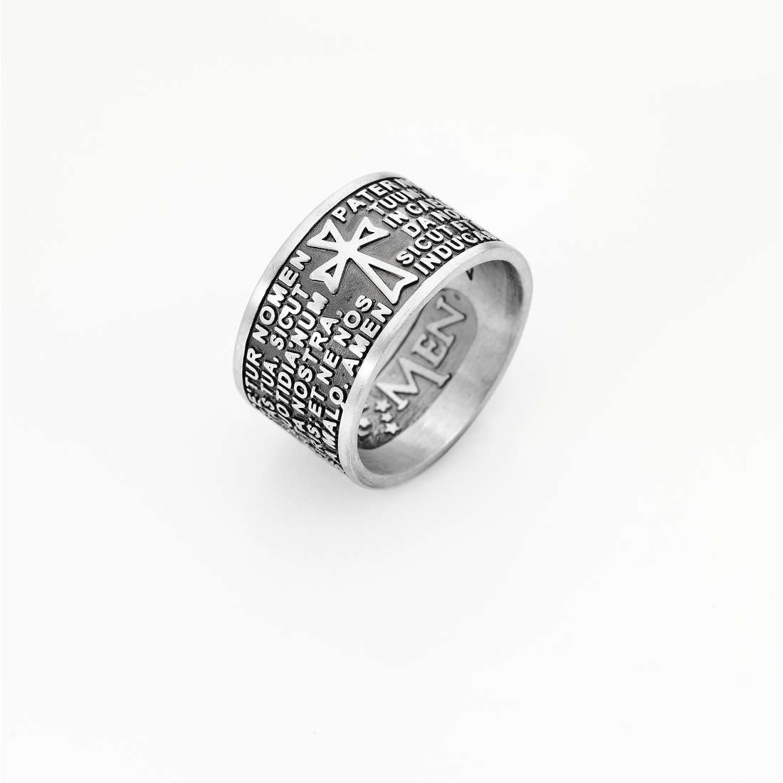 ring unisex jewellery Amen Padre Nostro PNLAB925-14