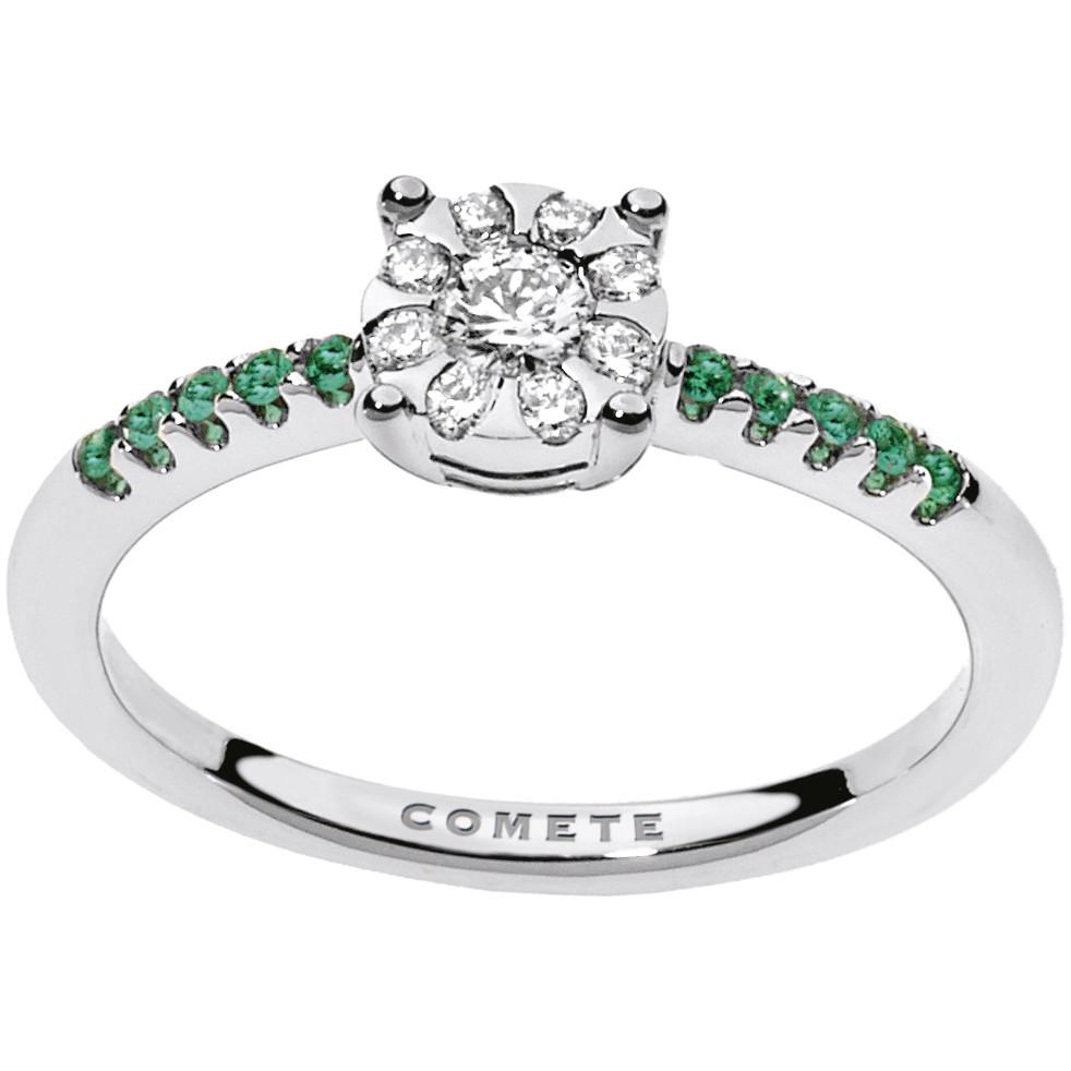 ring woman jewellery Comete Pietre preziose colorate ANB 1737