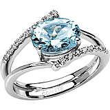 ring woman jewellery Comete Pietre preziose colorate ANQ 238