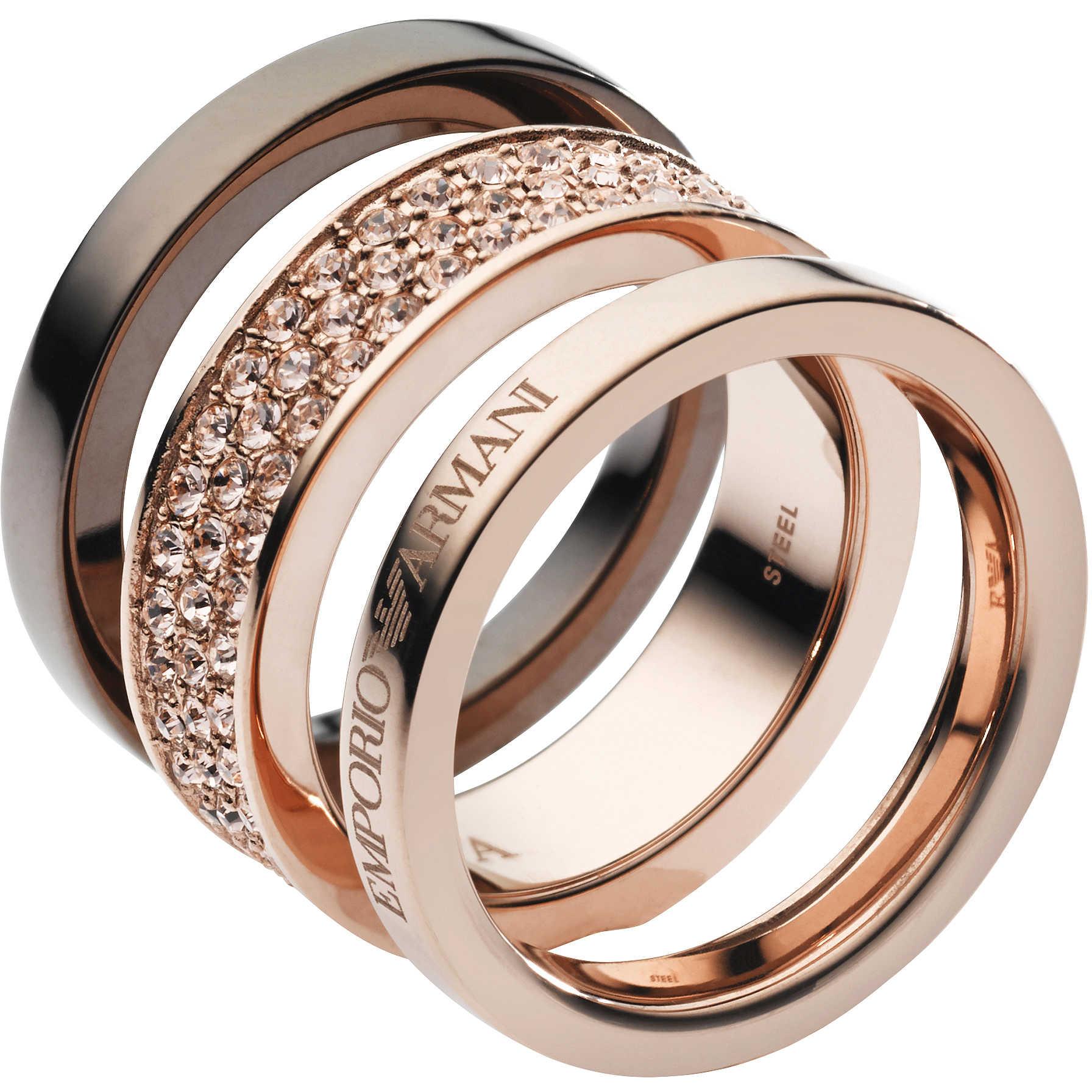 ring woman jewellery Emporio Armani EGS1778221508 rings Emporio Armani