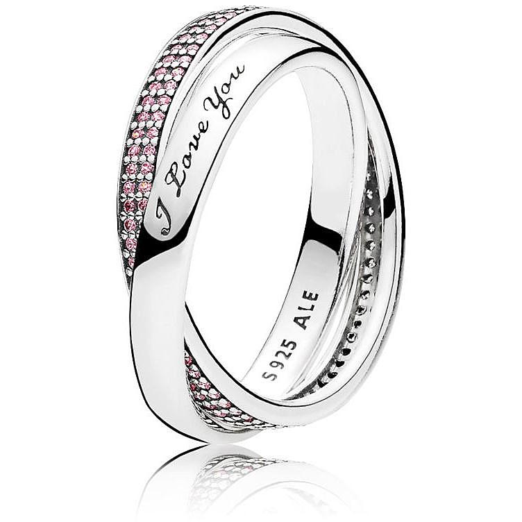 873902b04 ring woman jewellery Pandora 196546PCZ-54 rings Pandora