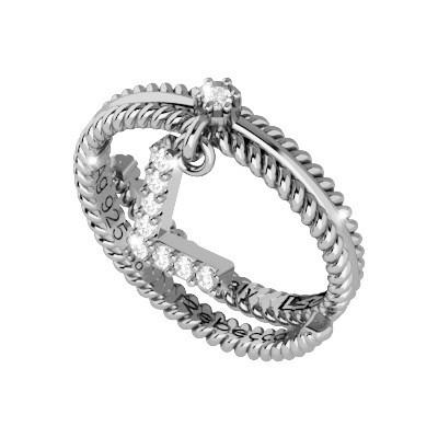 ring woman jewellery Rebecca Myworldsilver SWSAVL62