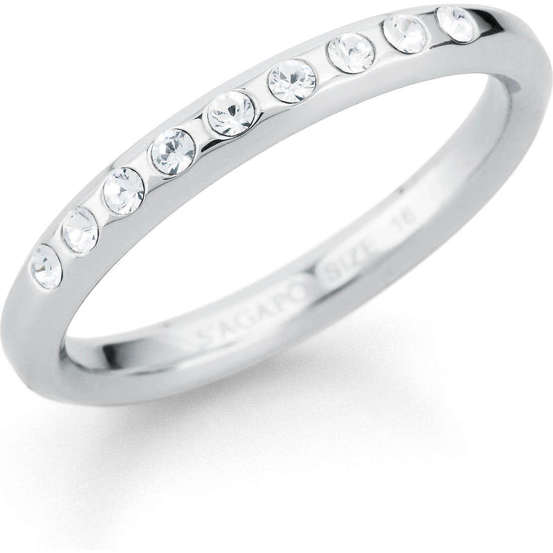 ring woman jewellery Sagapò Eternity SET31D