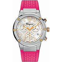 Uhr Chronograph frau Salvatore Ferragamo F-80 FIH020015