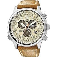 Uhr Chronograph mann Citizen Radio Controllati AS4020-44B