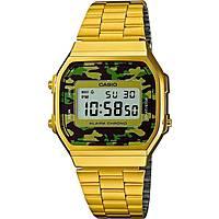 Uhr digital unisex Casio Casio Vintage A168WEGC-3EF