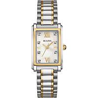Uhr nur Zeit frau Bulova Diamond Gallery 98S144