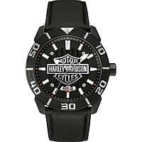 Uhr nur Zeit mann Harley Davidson 78B136