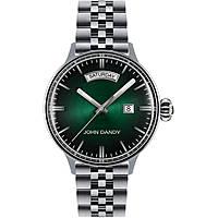 Uhr nur Zeit mann John Dandy JD-2572M/10M