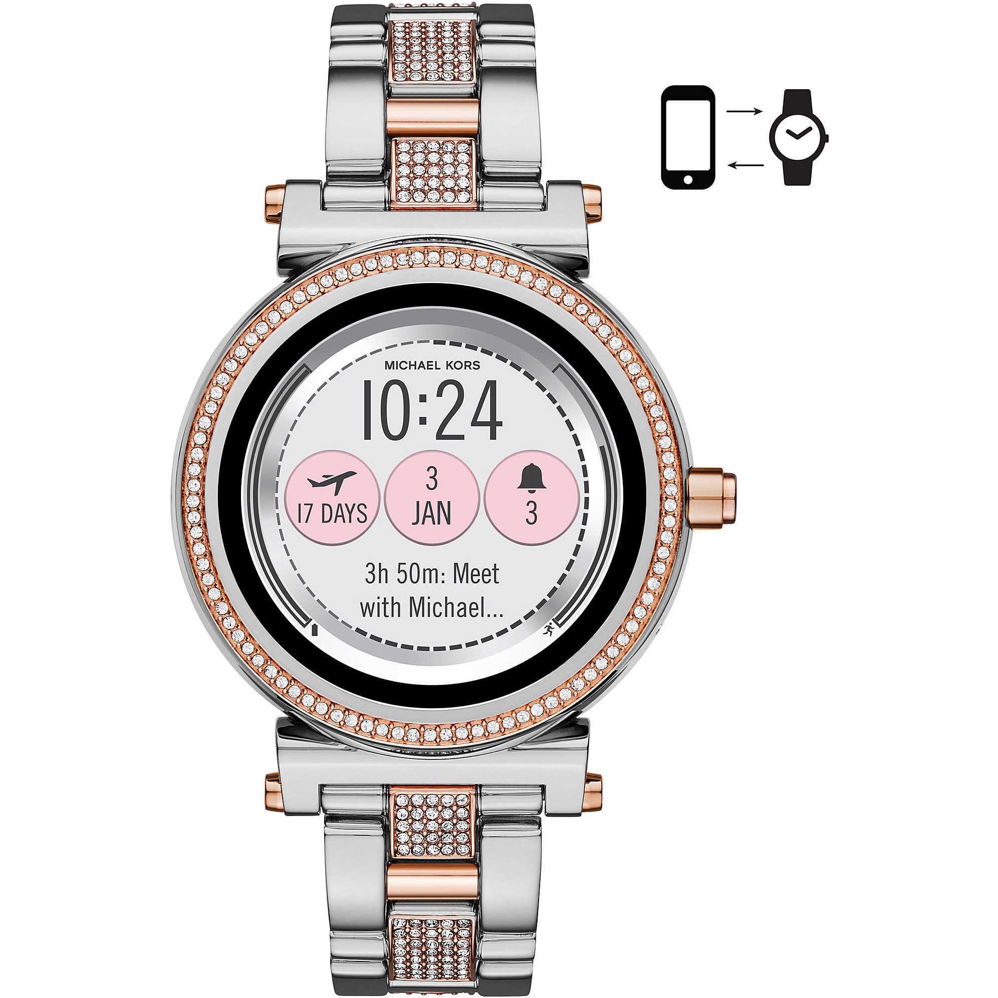 80e197e7904 Uhr Smartwatch frau Michael Kors Sofie MKT5040 Smartwatches Michael Kors