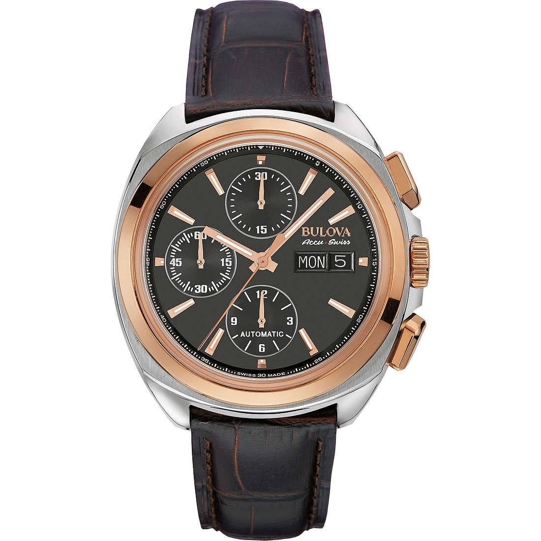 watch chronograph man Bulova Accu Swiss Telc 65B167