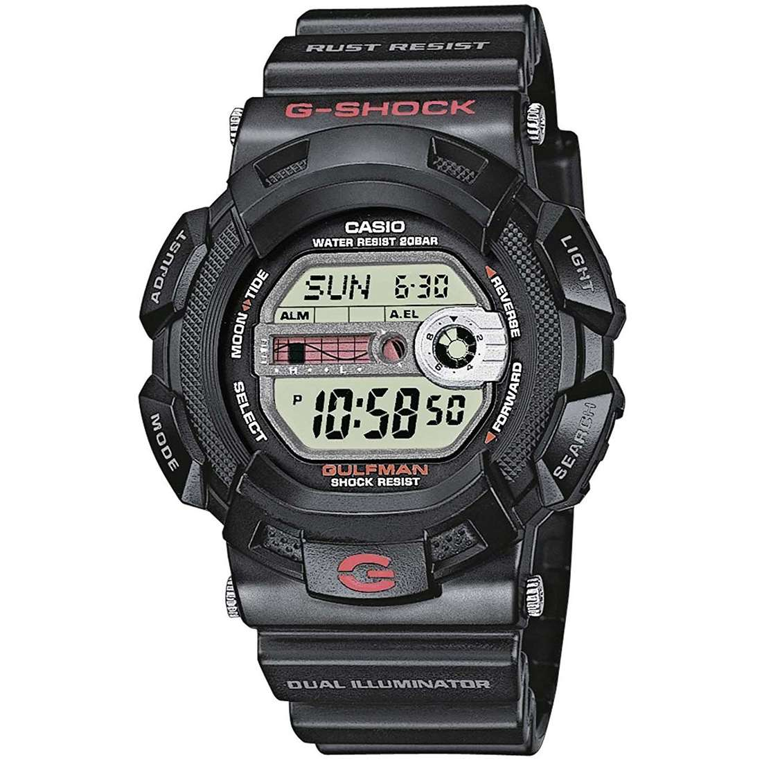 watch chronograph man Casio G-SHOCK G-9100-1ER