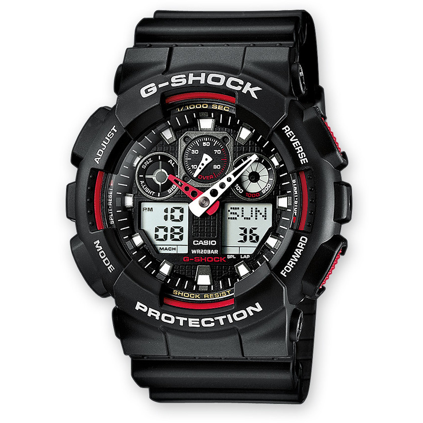 watch chronograph man Casio G-SHOCK GA-100-1A4ER