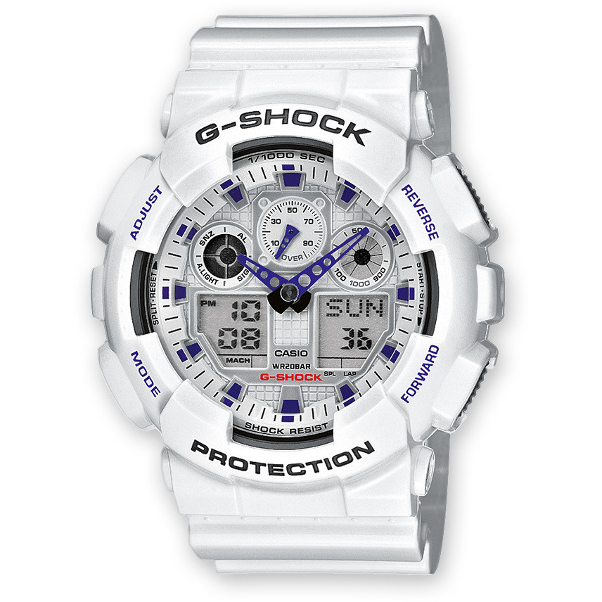 watch chronograph man Casio G-Shock GA-100A-7AER