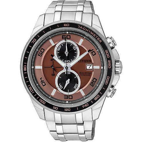 watch chronograph man Citizen Super Titanio CA0347-56W
