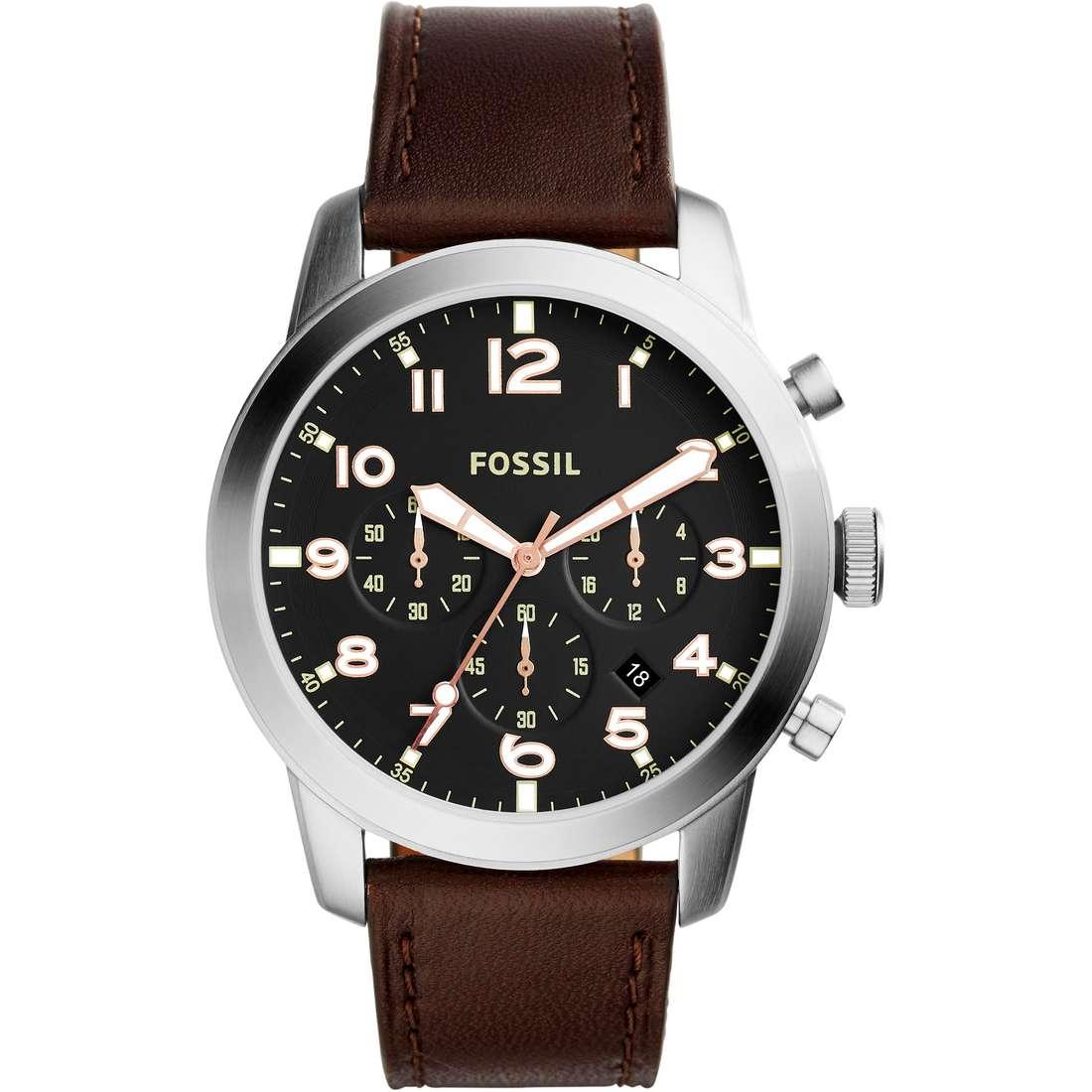watch chronograph man Fossil 54 Pilot FS5143