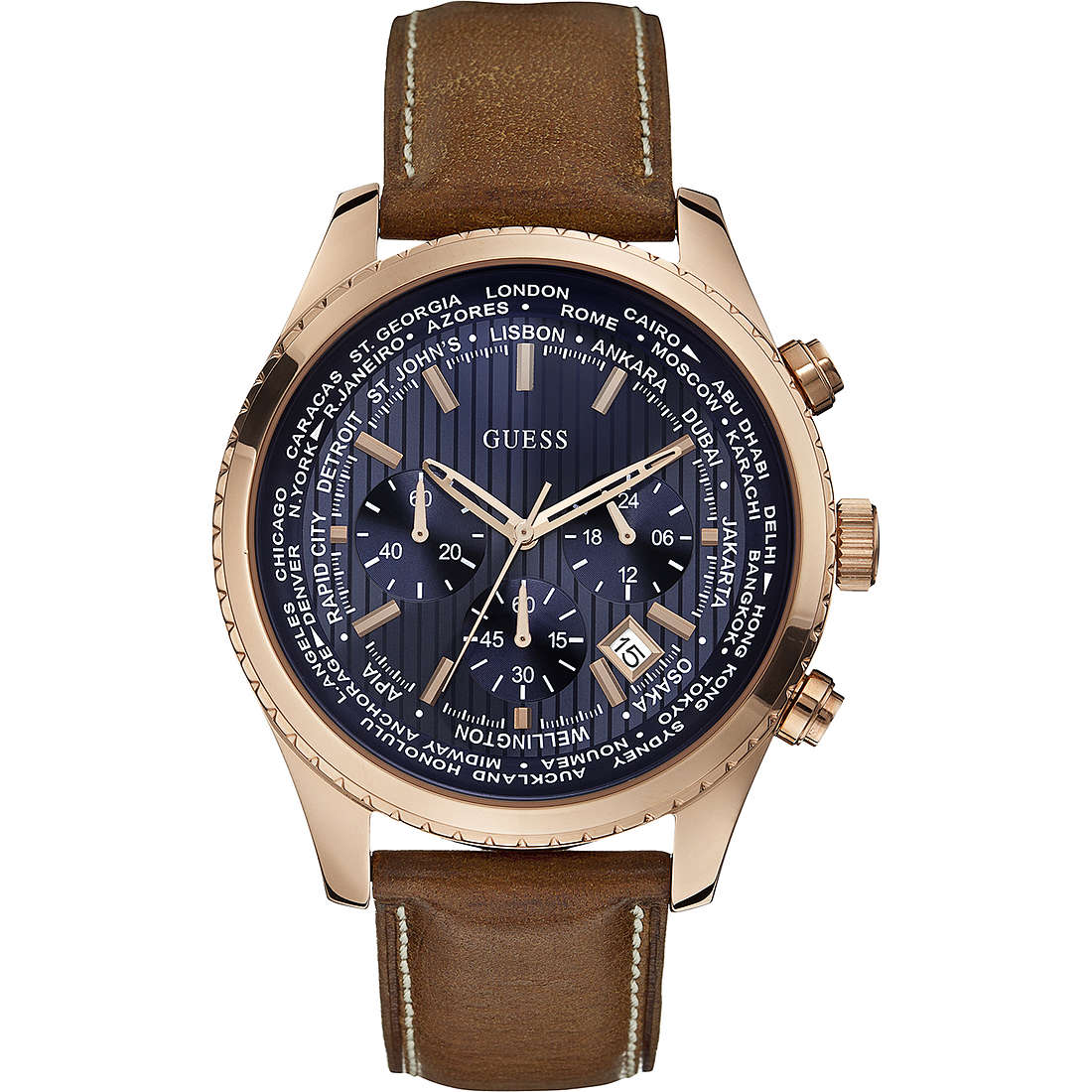 watch chronograph man Guess Pursuit W0500G1