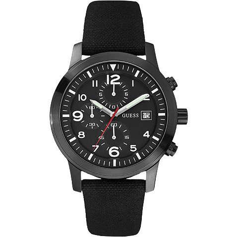 watch chronograph man Guess W12632G1