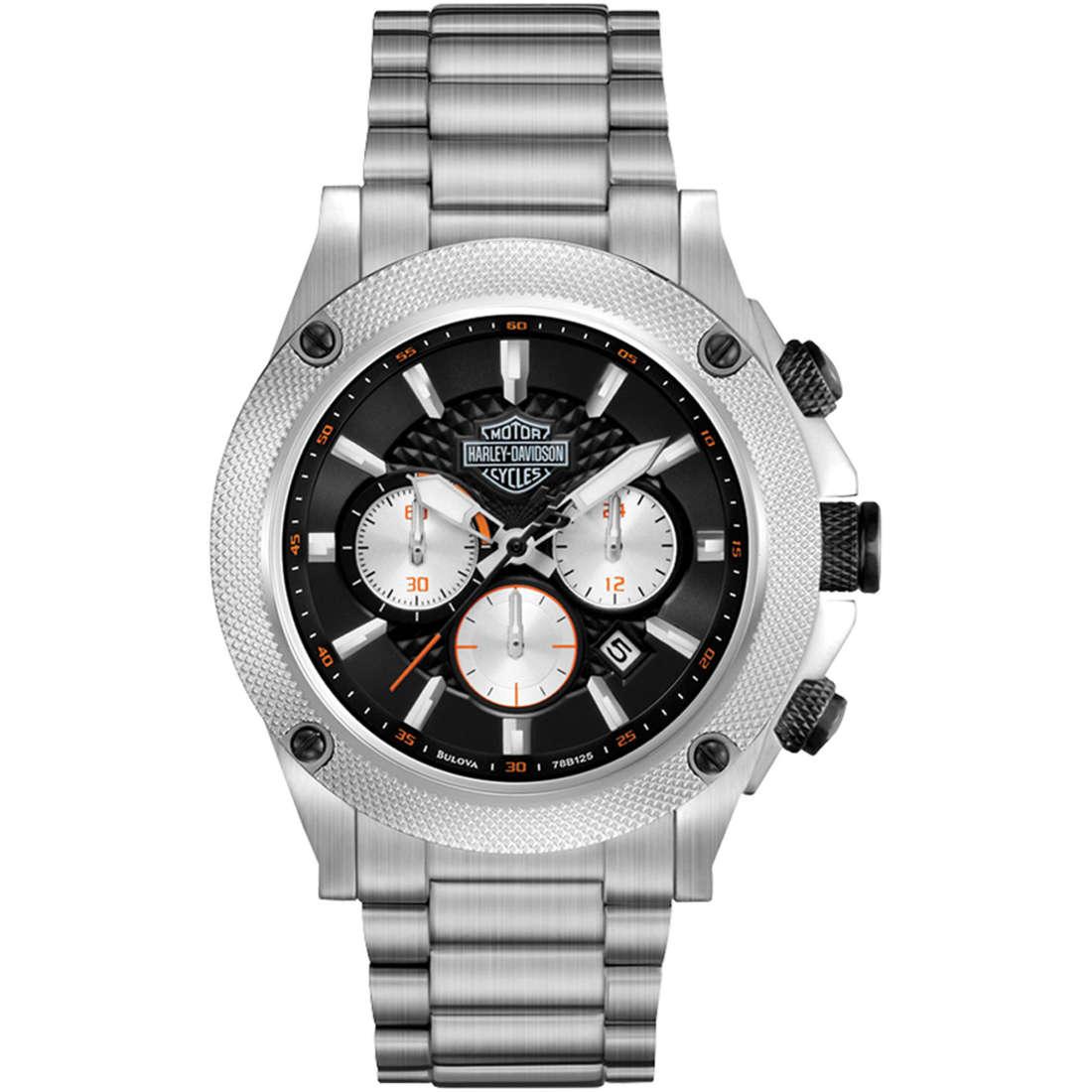 watch chronograph man Harley Davidson 78B126