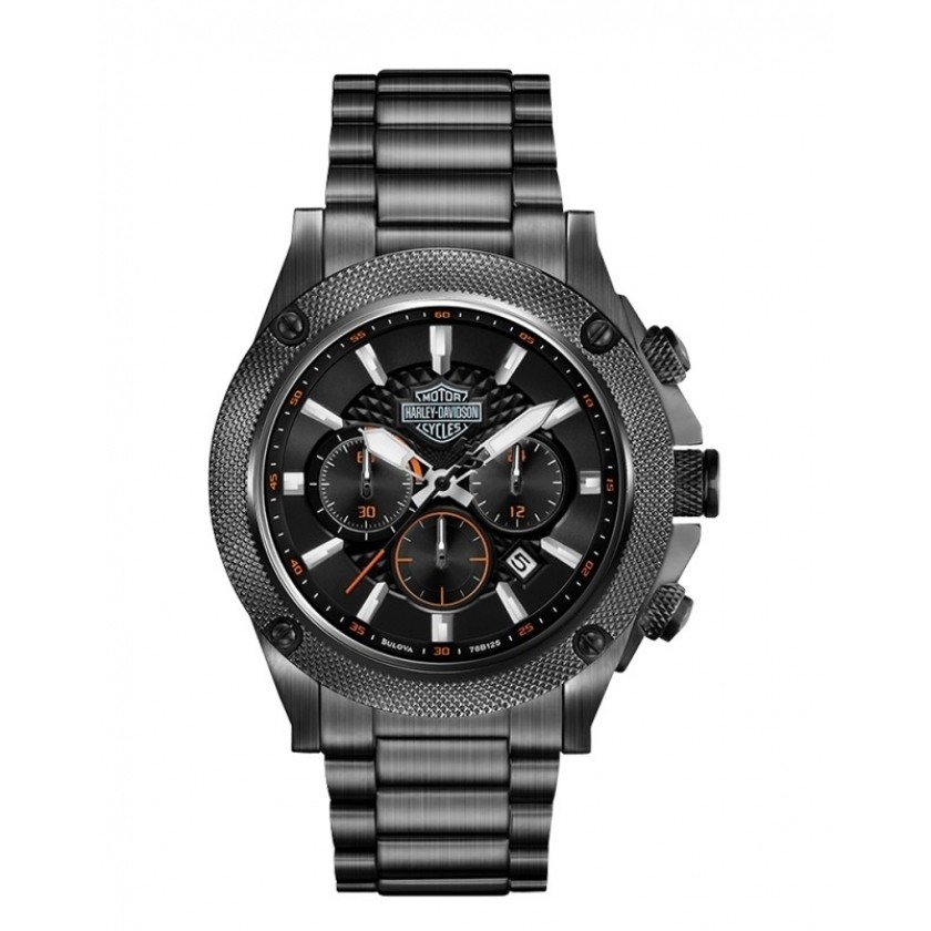 watch chronograph man Harley Davidson 78B127