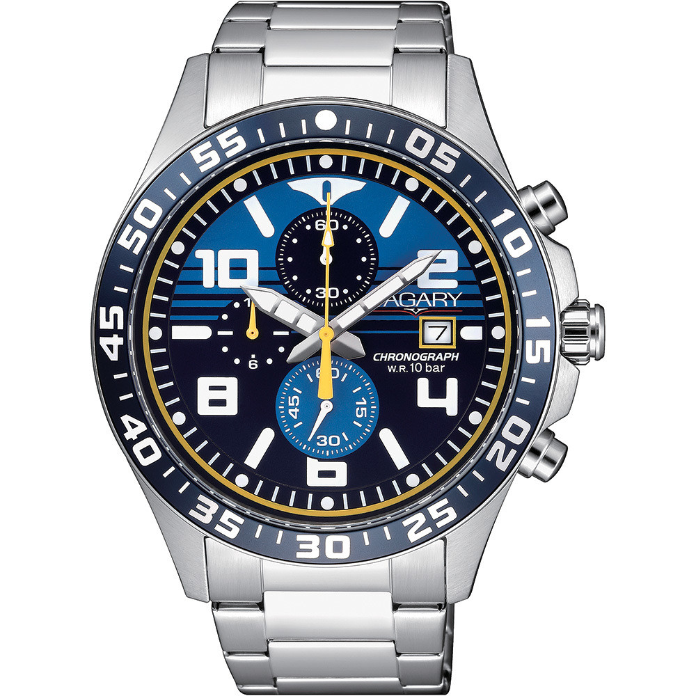 watch chronograph man Vagary By Citizen Aqua 39 IA9-217-71