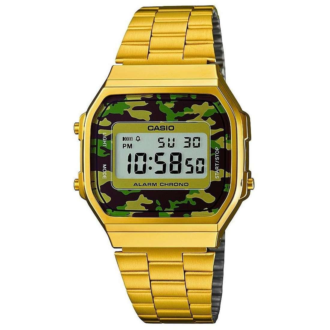 watch digital unisex Casio Casio Vintage A168WEGC-3EF