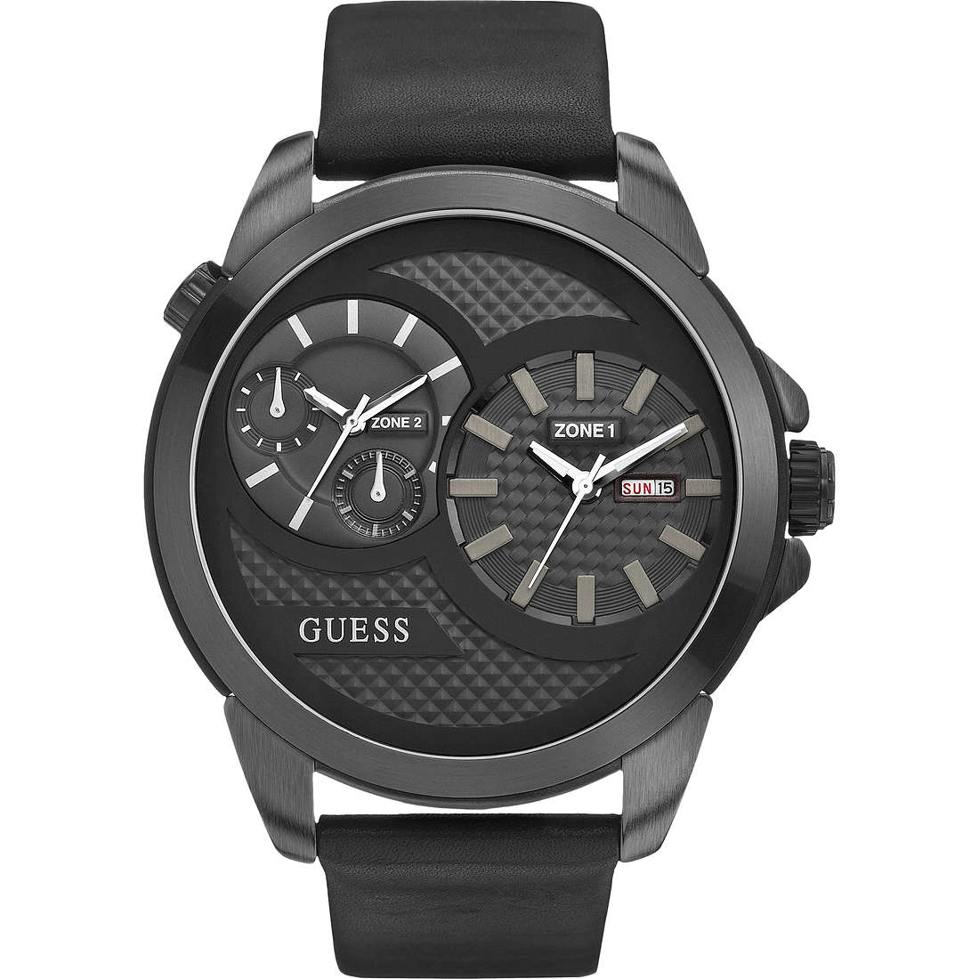 watch dual time man Guess Settembre 2013 W0184G1