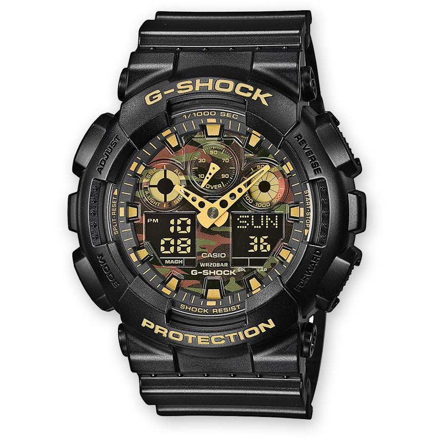 watch multifunction man Casio G-SHOCK GA-100CF-1A9ER