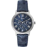 watch multifunction man Guess Blue Blue W0496G3