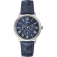 watch multifunction man Guess Blue Blue W0496G3
