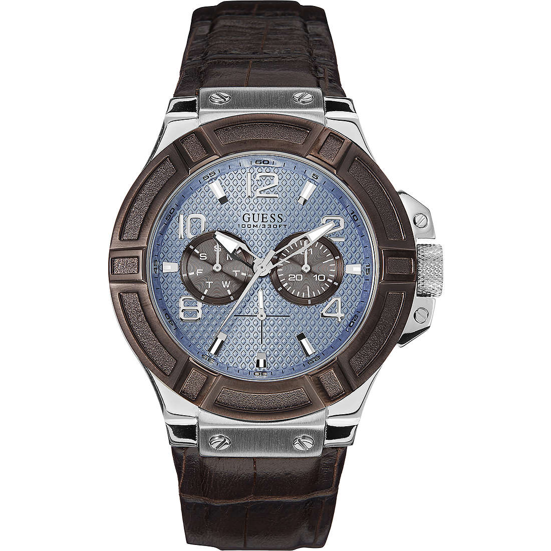 watch multifunction man Guess Ice Blue W0040G10