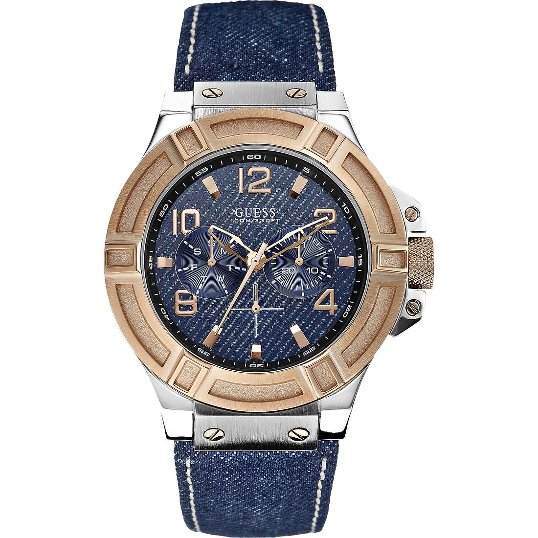 watch multifunction man Guess Rigor W0040G6