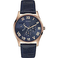watch multifunction man Guess Rose Gold W0608G2