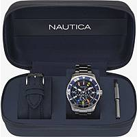 watch multifunction man Nautica White Cap NAPWHC001