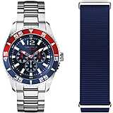 watch multifunction man Nautica White Cap NAPWHC002