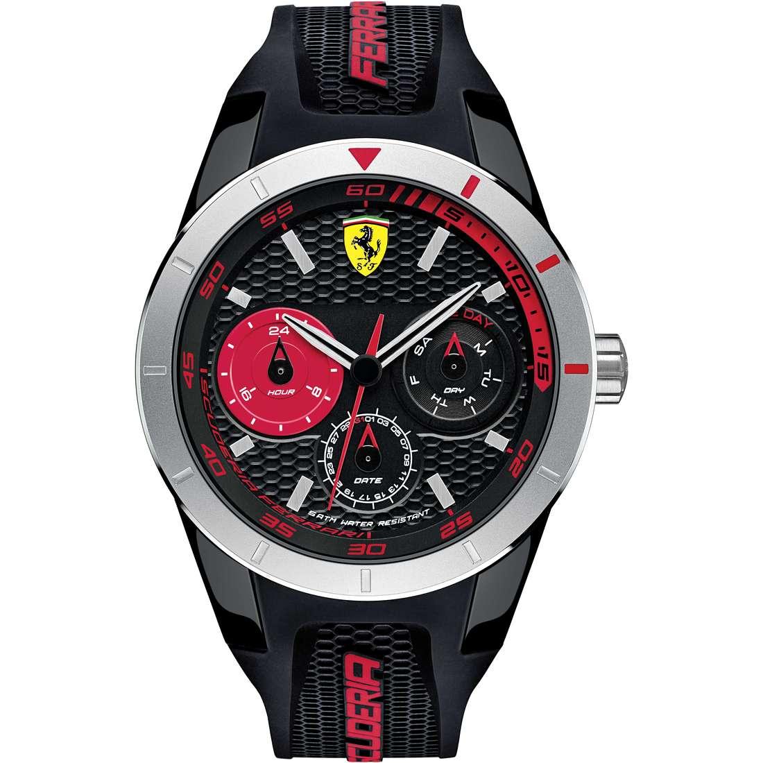 watch multifunction man Scuderia Ferrari Red FER0830254