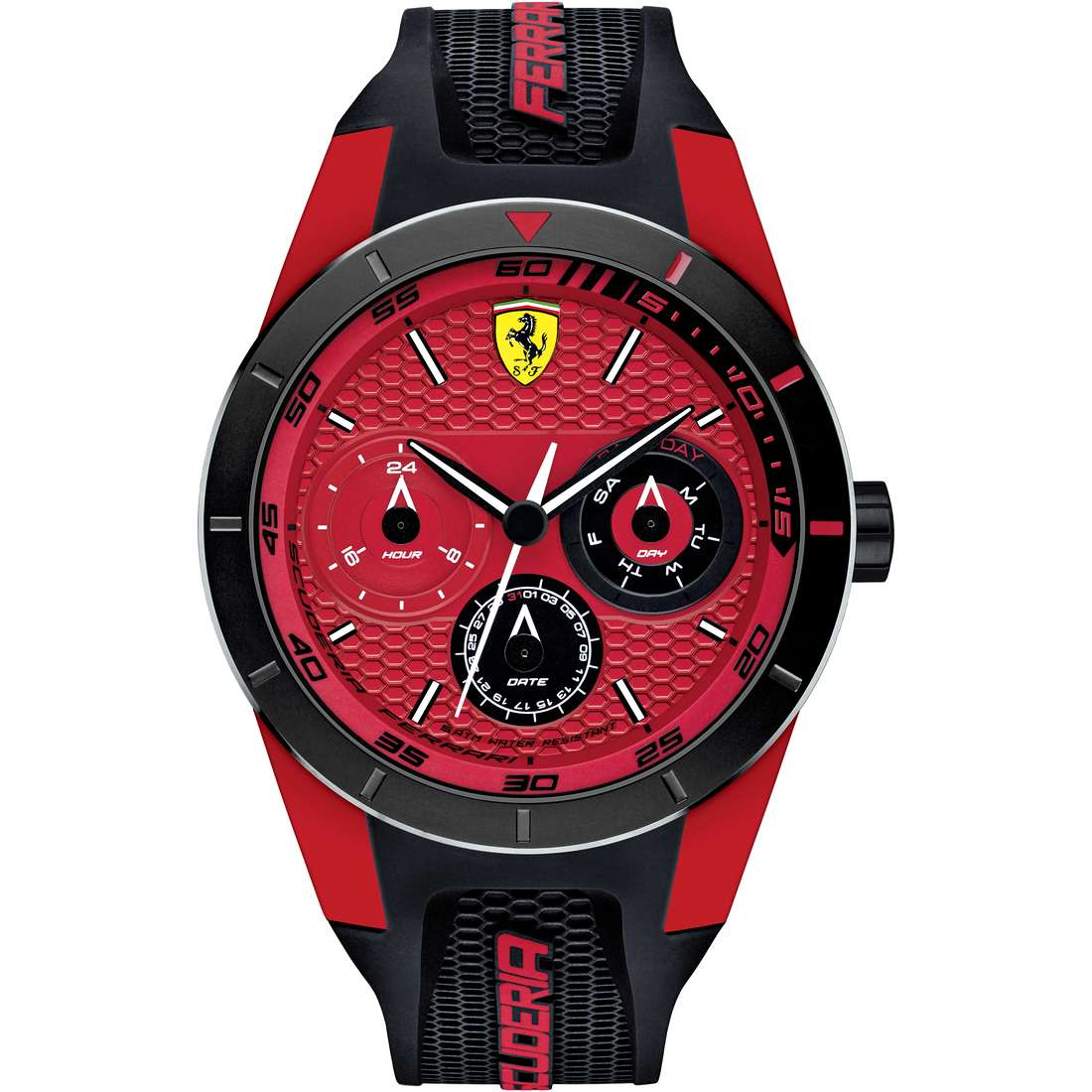 watch multifunction man Scuderia Ferrari Red FER0830255