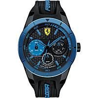 watch multifunction man Scuderia Ferrari Red FER0830256