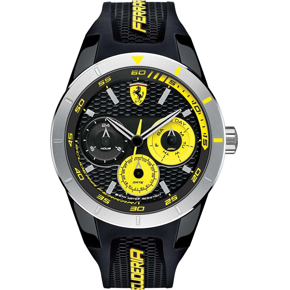 watch multifunction man Scuderia Ferrari Red FER0830257
