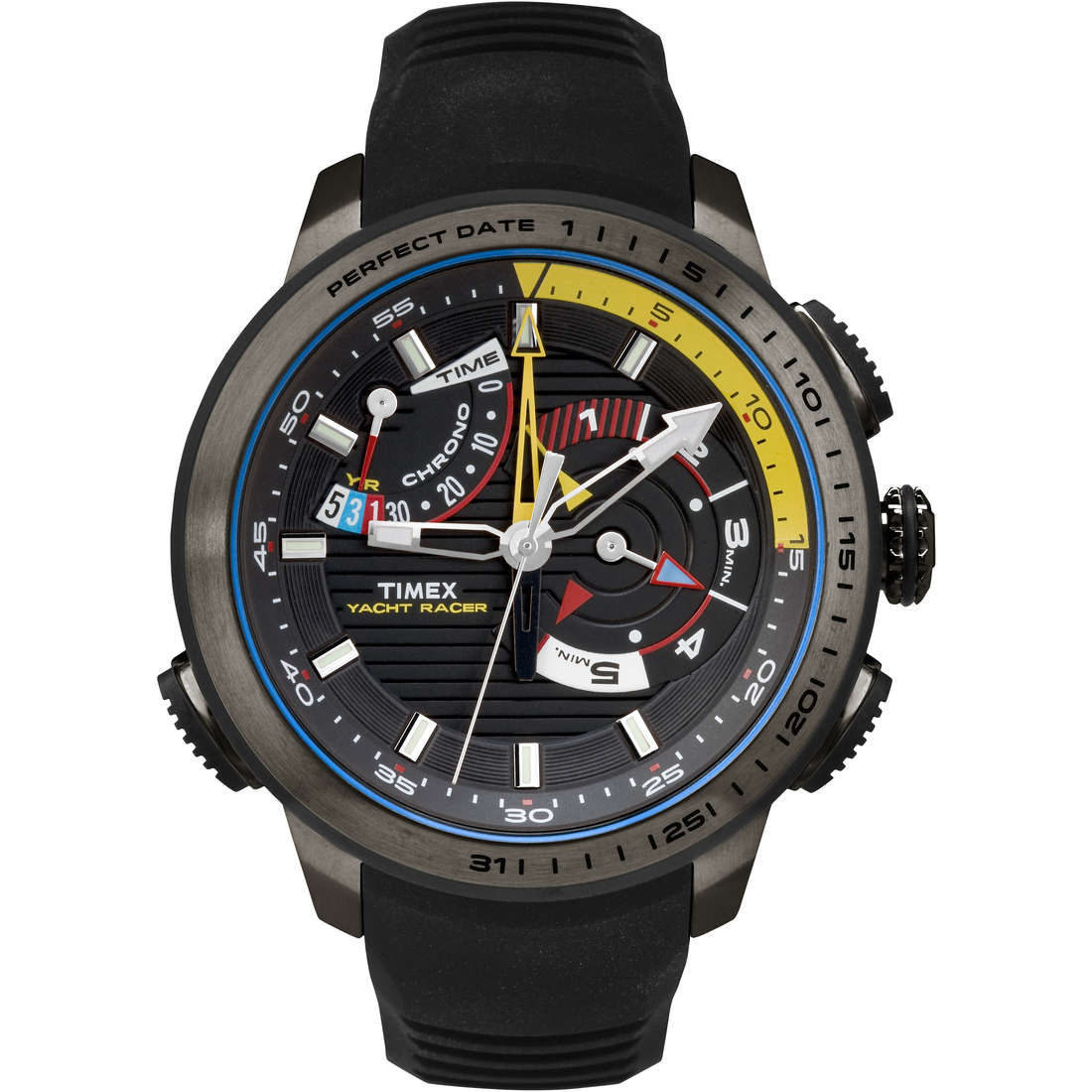 watch multifunction man Timex Iq Yatch Racer TW2P44300