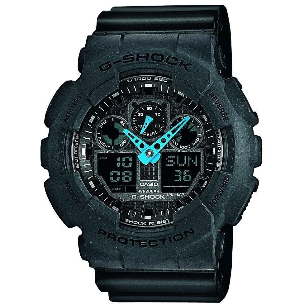 watch multifunction unisex Casio G-SHOCK GA-100C-8AER