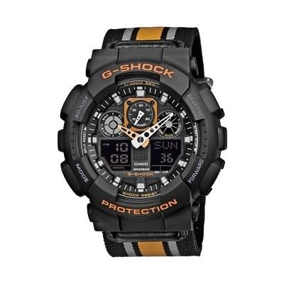 watch multifunction unisex Casio G-SHOCK GA-100MC-1A4ER